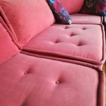 Nettoyage d'un canapé d'angle en tissu