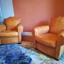 nettoyage d'un fauteuil club en cuir